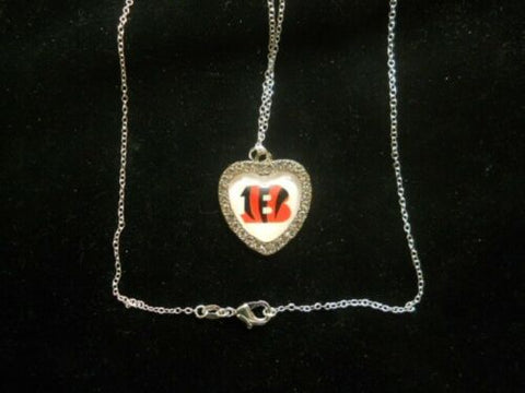"NFL Football Crystal Heart Charm ""All AFC North Available"""