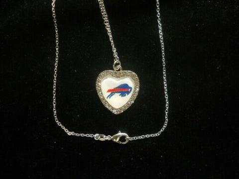 "NFL Football Crystal Heart Charm ""All AFC East Available"""
