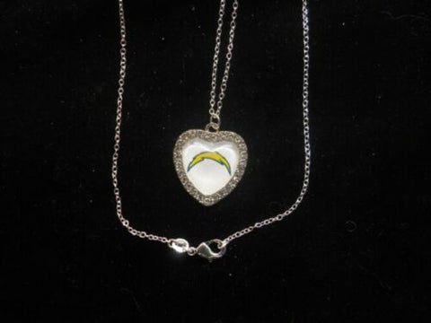 "NFL Football Crystal Heart Charm ""All AFC West Available"""
