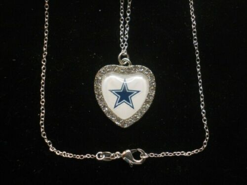 "NFL Football Crystal Heart Charm ""All NFC East Available"""