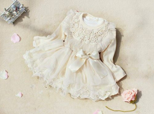 Vintage Cream Lace Tutu Dress