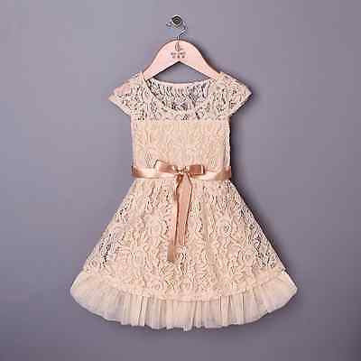 Bohemian Vintage Beige Lace Dress Holiday Dress Wedding Dress