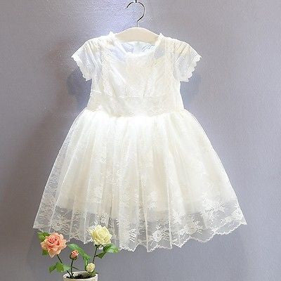 Bohemian Vintage White Lace Dress