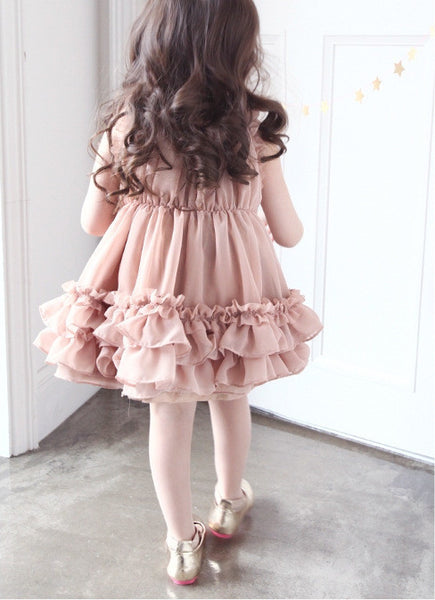 Mauve Ruffle Sleeveless Dress