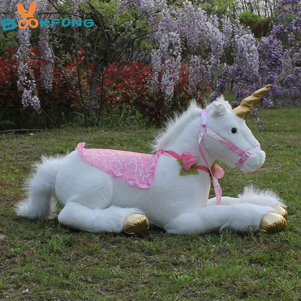 Jumbo White Unicorn Plush Stuffed Animal Toys Over 2.5 feet