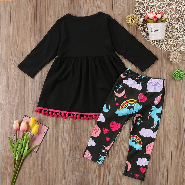 Baby Girls Clothing Sets Children Christmas Costumes Brand Kids Tracksuit for Girls Clothes Outfit Set Girl Unicorn Dress+Pants