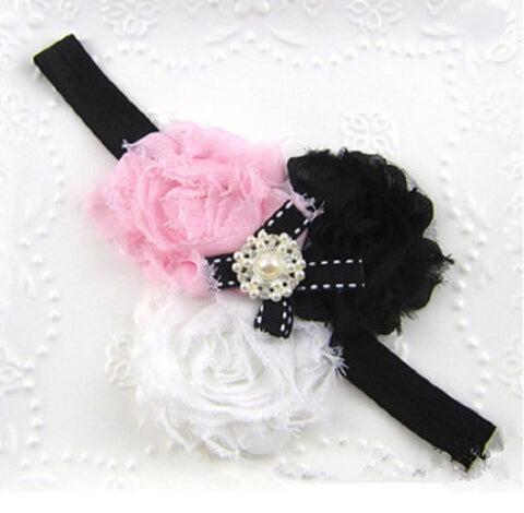 Black/White/Pink Headband
