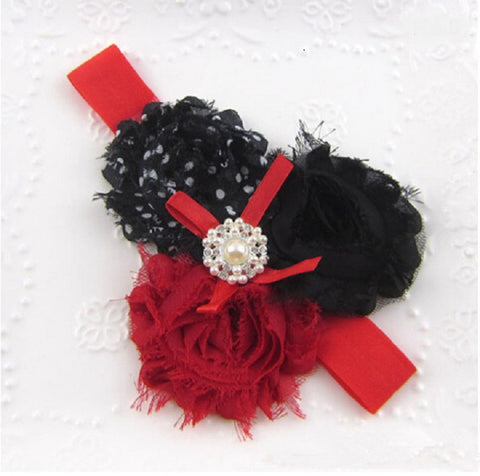 Red/Black Lace Headband