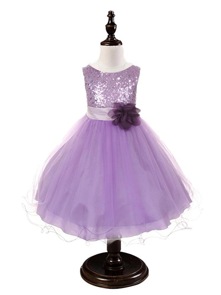 Purple Sequined Bodice Dress w/mesh overlay