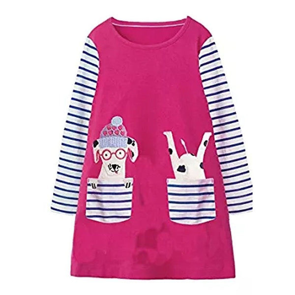 Kidsalon Baby Girls Clothes Vestiods Unicorn Applique Christmas Dress Girl Party Dress Robe Princess Dress for Children Clothing