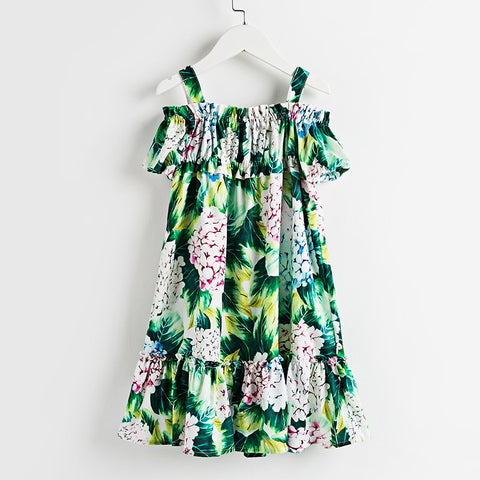 "The ""Bella"" Hydrangea Sleeveless Summer Beach Dress"