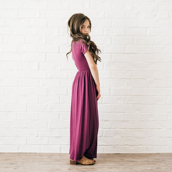 Girls Casual Cotton Maxi Dress