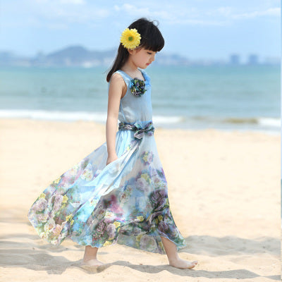 Summer Beach Floral Bohemian Dress