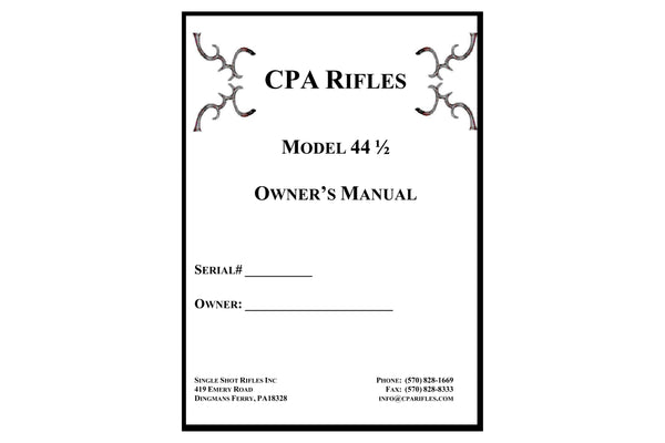 CPA Rifles owner's manual
