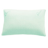 Blue QUIESTA SHREDDED MEMORY FOAM PILLOW, BAMBOO MEMORY FLAKES, BEST PILLOW FOR STIFF NECK.