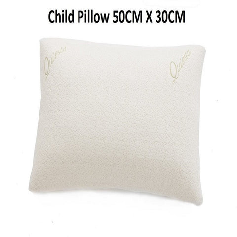 QUIESTA SHREDDED MEMORY FOAM CHILD PILLOW, BAMBOO MEMORY FLAKES, BEST PILLOW FOR YOUNG CHILDREN
