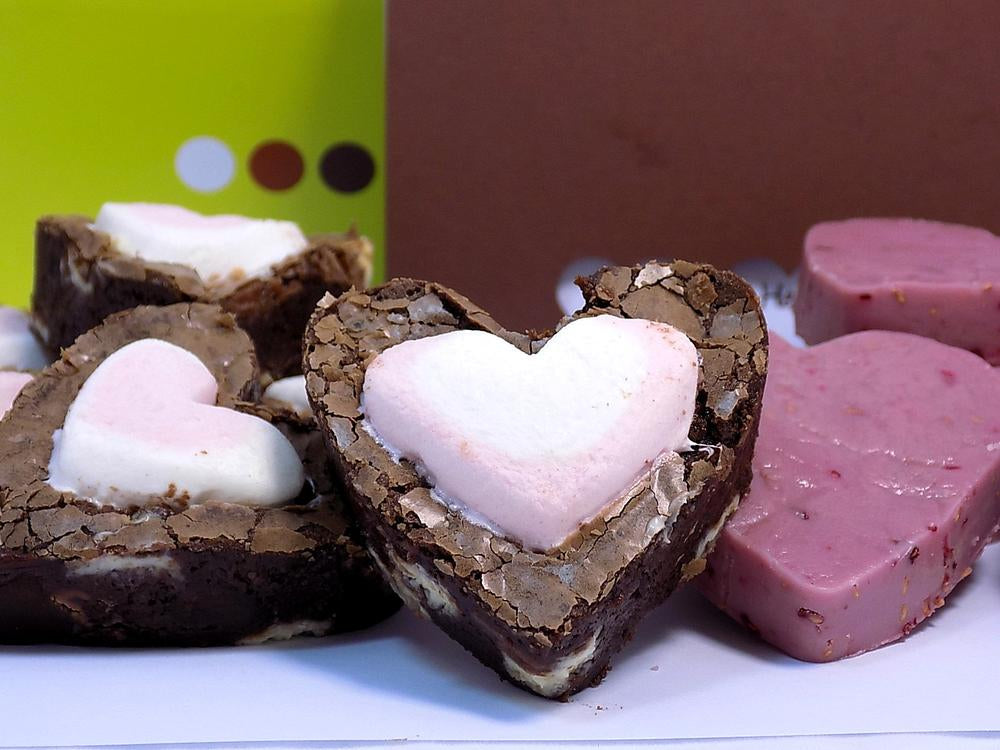 LOVE-ly Gift Box - homemade brownies & fudge, free delivery