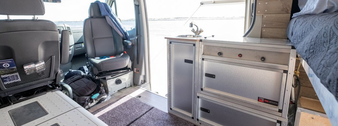 Campervan Kitchen Unit With Sink And Removable Stove