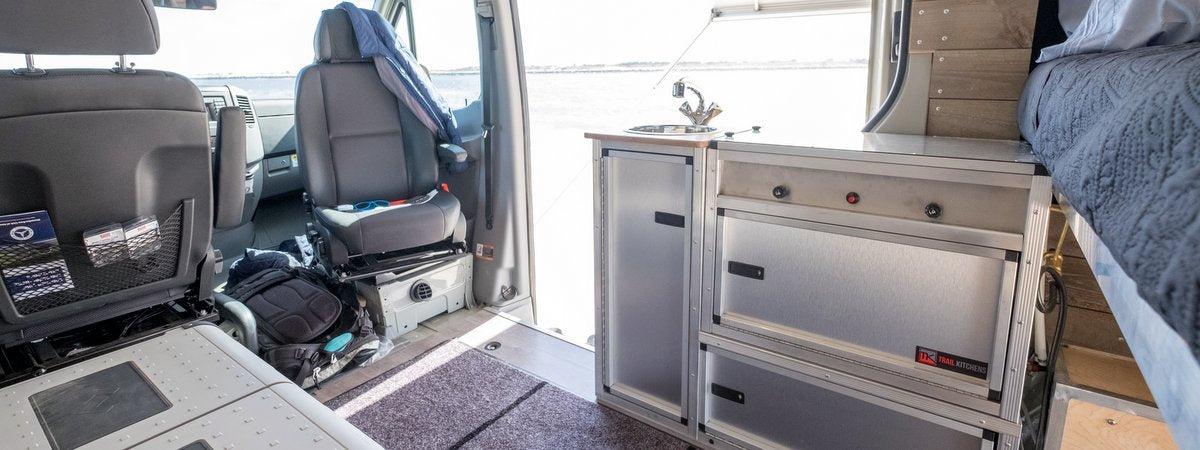 campervan kitchen unit by trail kitchens
