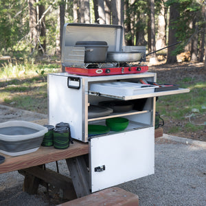 camp kitchen in a box by trail kitchens