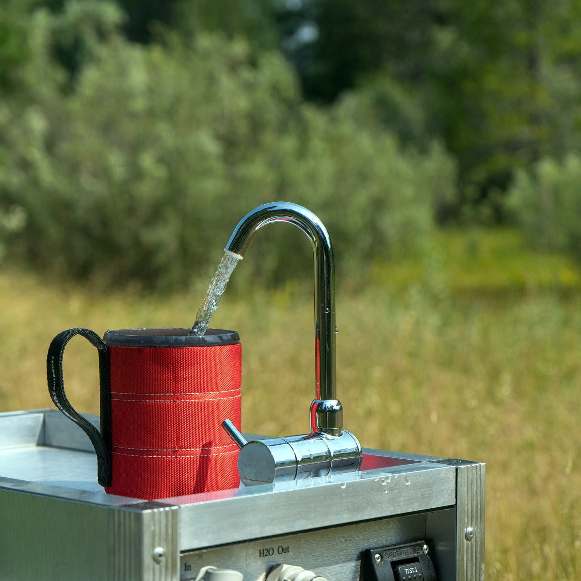 Camp Sink With Faucet.Portable Camping Sink With Pump Water Filter Trail Kitchens