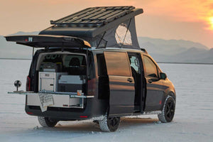 minivan camper with rear slide out kitchen