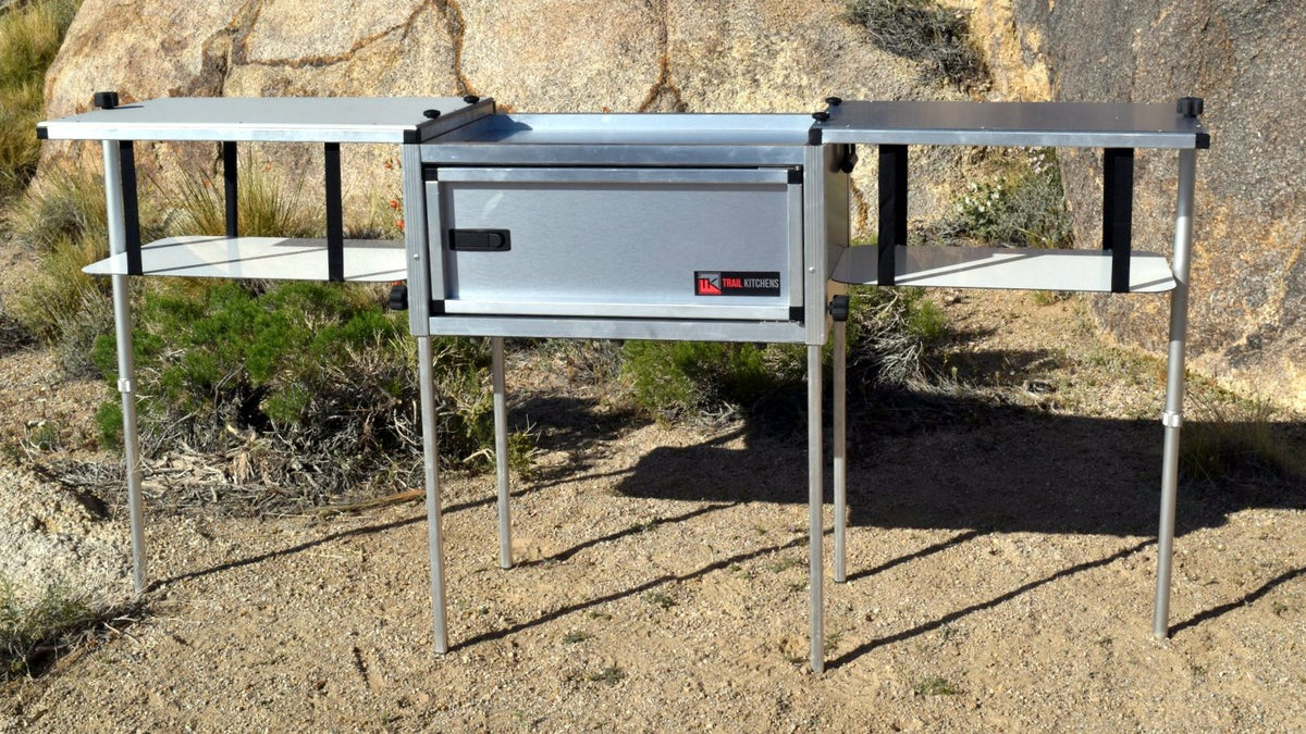 Trail kitchens overland camping gear camp cooking for Kitchen setup