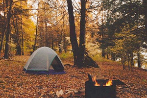 Enjoy Autumn Scenery Camping in Nature