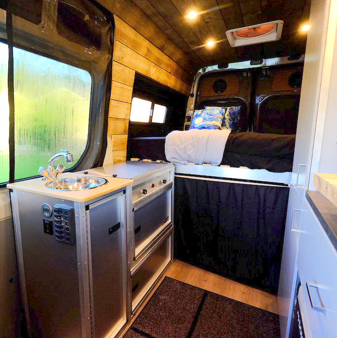 single kitchen unit for campervan conversions