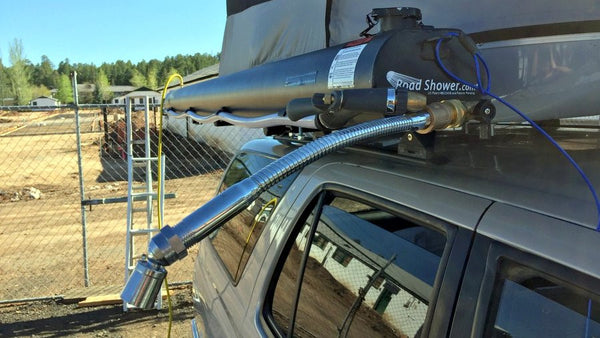 road shower air compressed solar shower for your roof racks