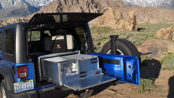 trail kitchens wrangler camp kitchen and portable water system for jeeps suvs and subarus