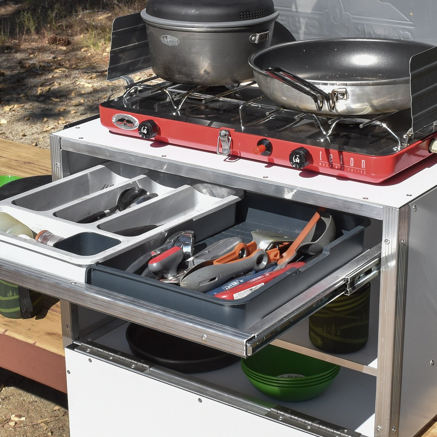 The King Charles Premium Camping Chuck Box by Trail Kitchens