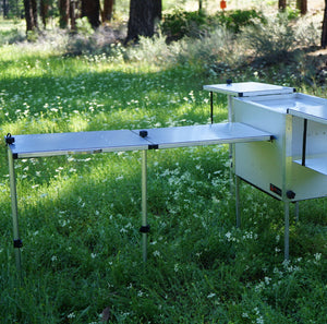 Add a table mounted on a Trail kitchens Camp Kitchen
