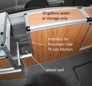 Campervan Wheel well cabinet with TK Van Kitchen