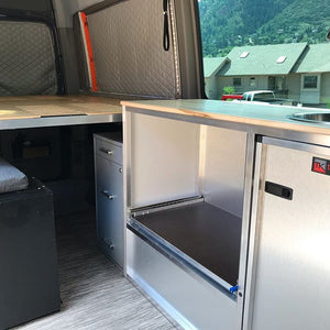 Campervan Water System + Fridge Slide