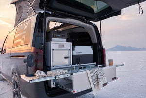 minivan kitchen for minivan camper conversions by trail kitchens