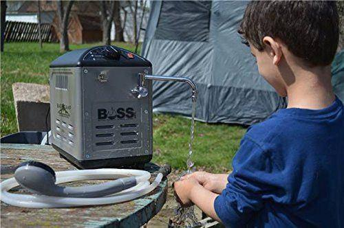 Mr. Heater: BaseCamp BOSS-XCW18 Portable Camp Shower System camping hot water system