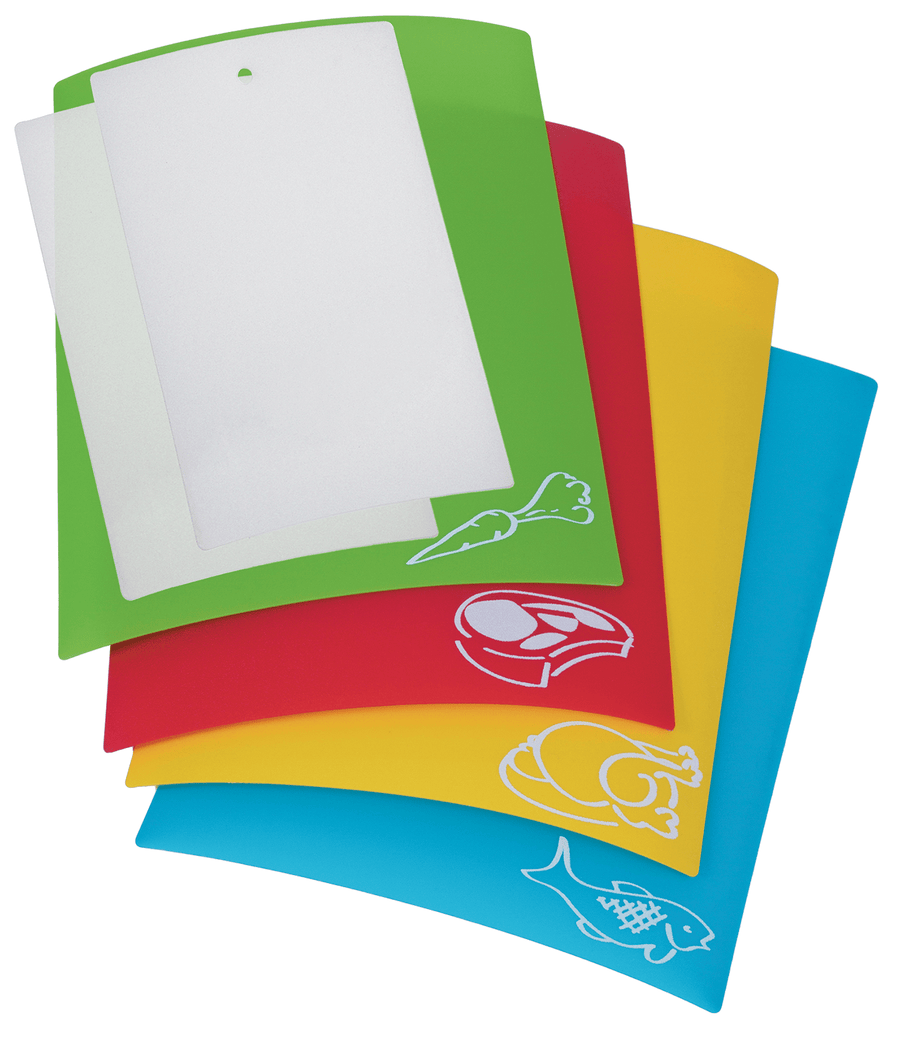 Prepworks: Flexible Color-Coded Chopping Mats - Set of 6 camping kitchenware