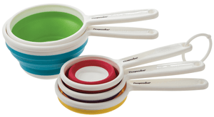Collapsible measuring cups-Space Saving Kitchen Products-Trail Kitchens