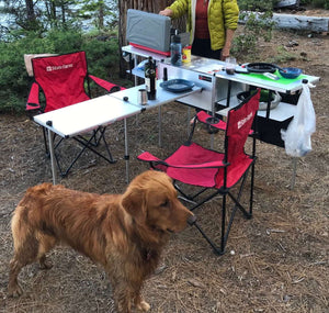 Add a table from Trail Kitchens being used in camp