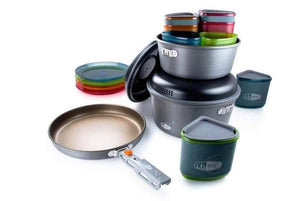 Pinnacle Camper - Cooking and Dining for 4 Per. (3 liter & 2 l Pots)-Cooking Equipment-Trail Kitchens