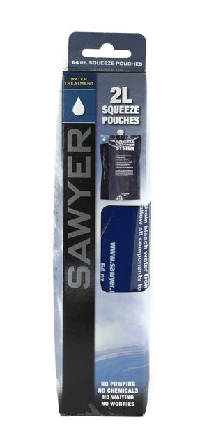 Sawyer Products: 64 oz Squeezable pouch - Set of 2 camping hydration product
