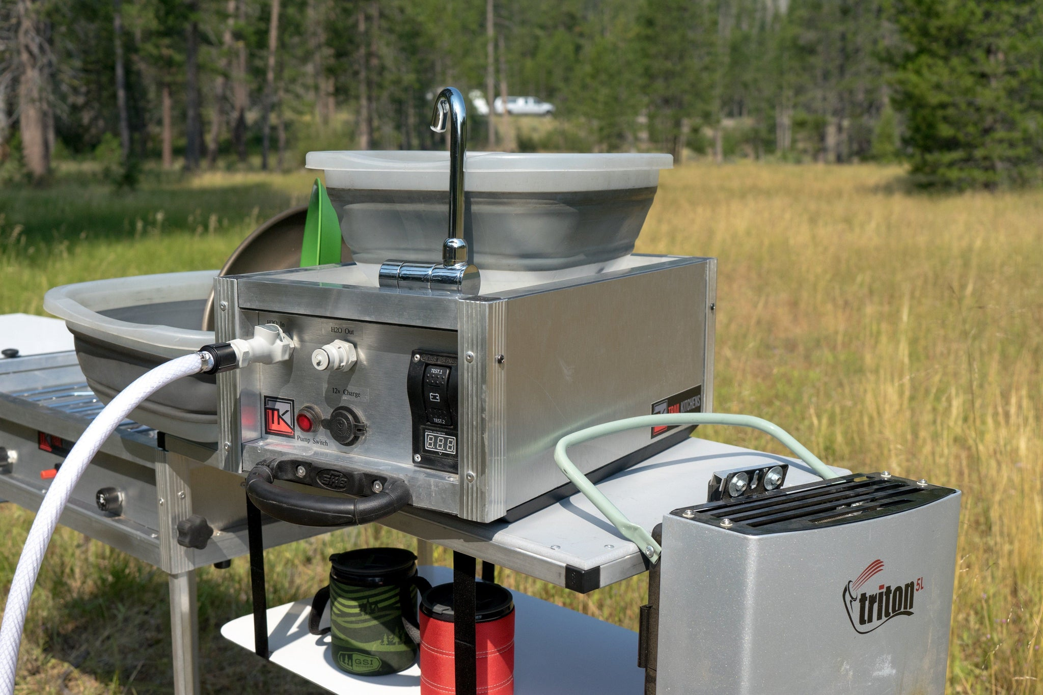 Portable Camping Sink With Pump Water Filter Trail Kitchens