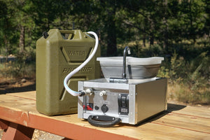 The Water Boy Camping Sink with Pump by Trail Kitchens