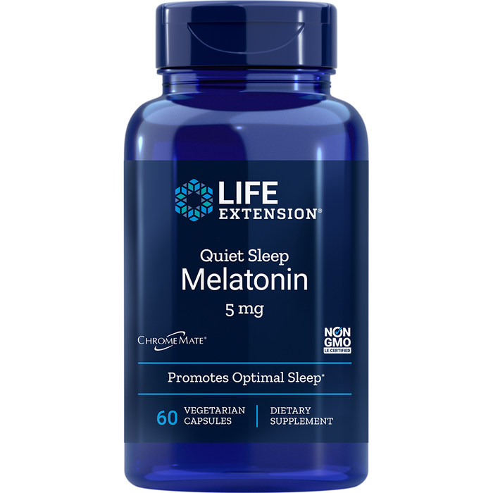 Melatonin 5 mg (Quiet Sleep Formula) (60 Capsules)