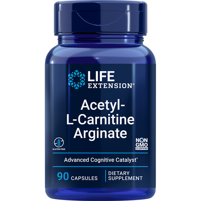 Acetyl-L-Carnitine Arginate (90 Capsules)
