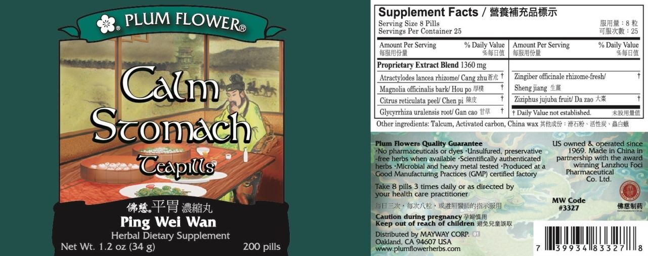 Calm Stomach Teapills (Ping Wei Wan) (200 Pills)