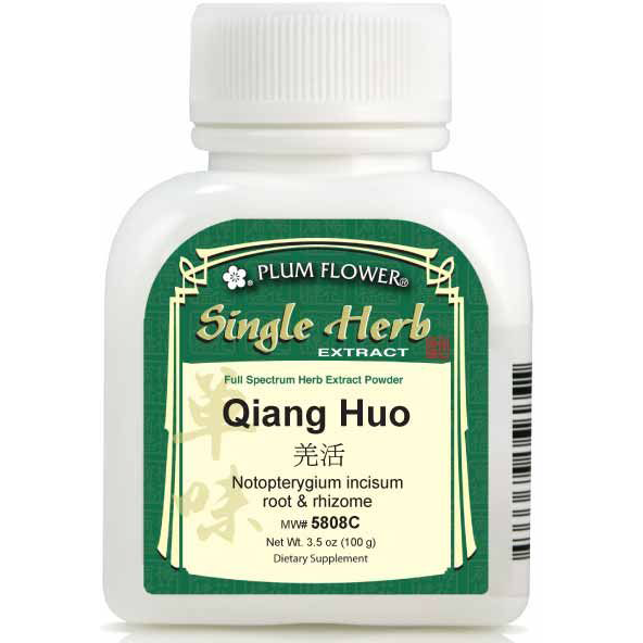 Qiang Huo (Notopterygium incisum root & rhizome) Extract Powder (100 Grams)
