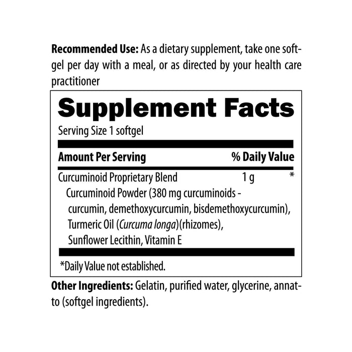 Designs for Health Curcum-Evail (60 Softgels) Supplement Facts