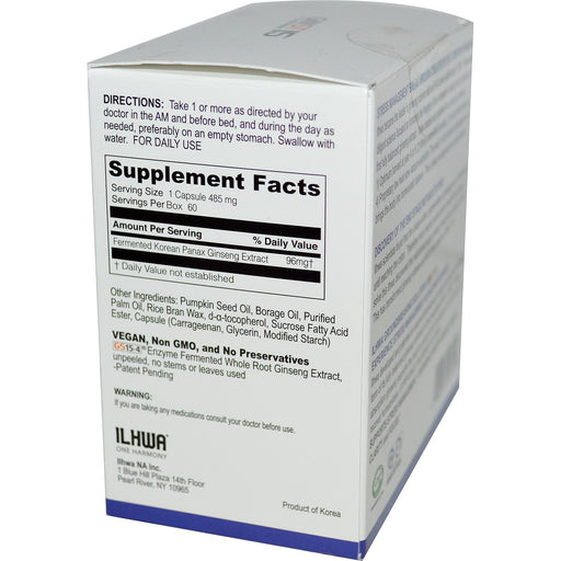 Ilhwa GinST 15 Soft Gels (60 Capsules) Supplement Facts